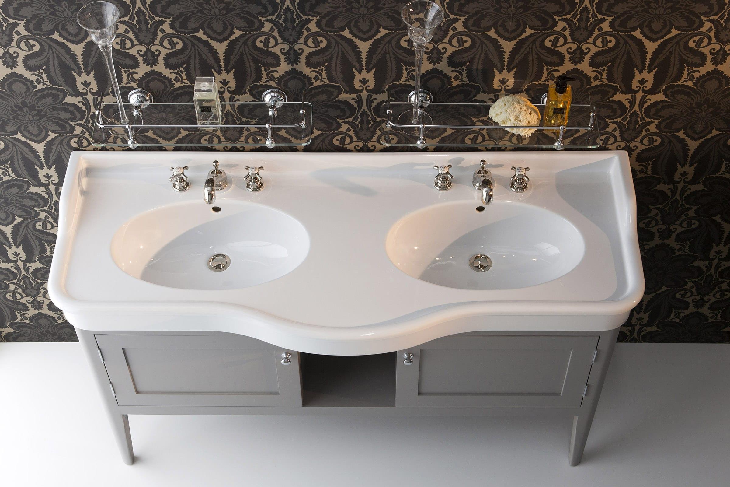Ortona Double Vanity Unit Albion Bath Co Hand Made To Order